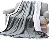 Très Grande Couverture chauffante en Flanelle Douce Couverture chauffante 130 x 180 cm, avec 6...