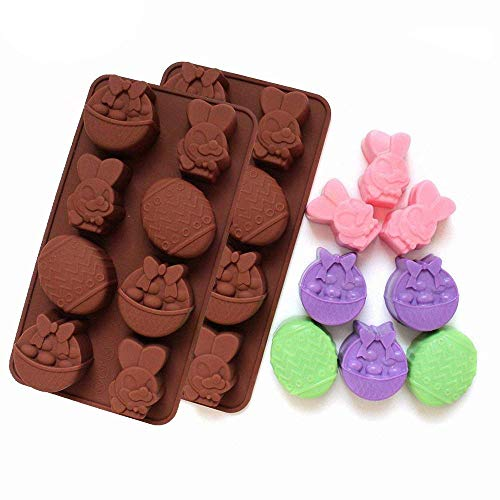 2-Pack Easter Egg and Bunny Mold - Silicone Mold for Jello