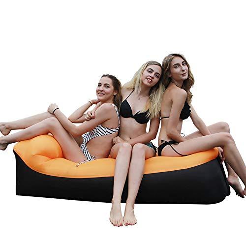 AMTSKR Tumbona inflable rápido, sofá cama, muebles de camping, saco de dormir y silla de playa cojín para el aire libre
