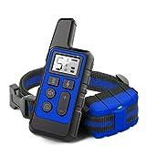 Collar de entrenamiento de grado impermeable IP68 con equipo de entrenamiento de perros domésticos recargable remoto, Adecuado para perros pequeños, medianos y grandes, Distancia hasta 875 yardas
