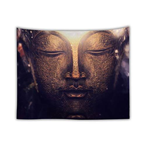 Tapestry Wall Hanging Ancient Buddha Tapestry A Tapestry Aesthetic Room Decor Tapestry for Bedroom College Dorm Room Decorations(51'' x 59'' inch ) (I)