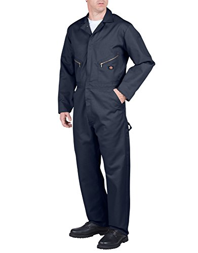 Dickies Men's Deluxe Long Sleeve Blended Coverall, Dark Navy, X-Large/X-Tall