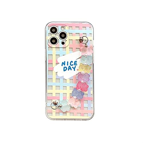 ZYQZYQ Cassa del Telefono della Catena della Catena di Perline del Orso della cnady Coreano per Il Coperchio Posteriore del Telefono della Prova di Shock a Prova di Shock di iPhone