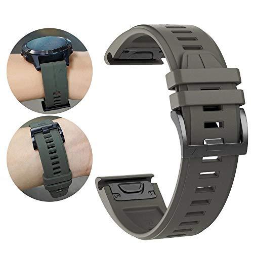 YOOSIDE Fenix 5X Silikon Armband, 26mm QuickFit Weich Wasserdicht Silikon Ersatzarmband Uhrenarmband für Garmin Fenix 5X/Fenix 5X Plus/Fenix 3/Quatix 3/D2 Delta PX/ (Grün)
