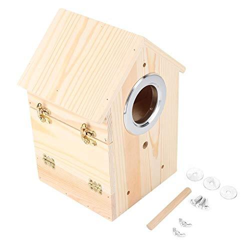 Cafopgrill nestkast van hout vogel huis papegaai zwaluwen nest box in de open natuur nestkast voor gazon ontvangst art decoratie