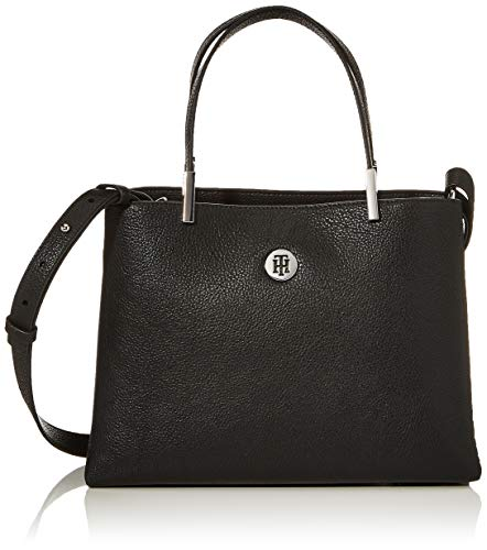 Tommy Hilfiger Damen Th Core Med Satchel Tornistertasche, Schwarz (Black), 11.5x0.1x28 centimeters