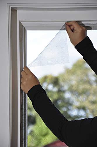 Fliegengitter Fenster 150 x 180 anthrazit individuell kürzbar Insektenschutz Fliegennetz Fensternetz Mückennetz Mückengitter Fenstergaze (1, Fliegengitter)