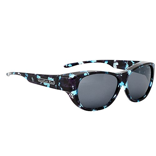 Jonathan Paul Allure Polarized Fitover Sunglasses in Blue Demi with Grey Lensses