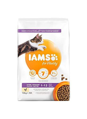 IAMS pour Vitality Nourriture sèche avec Poulet Frais spécifique pour Chats 800 g