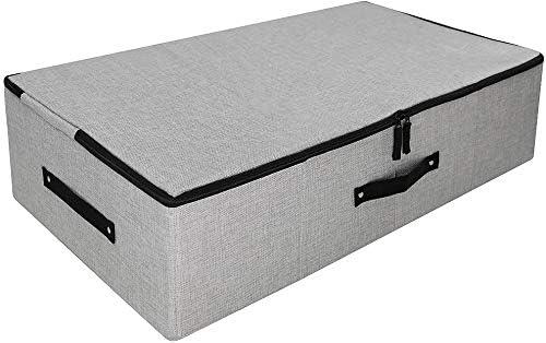 Underbed Garment Storage Basket Three Side Zipper Cover Large Size Folding Design Anti Mold product image
