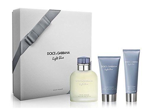 Dolce & Gabbana Light Blue homme/man Set (Eau de Toilette (125 ml), Duschgel (50 ml), After Shave Balm (75 ml))