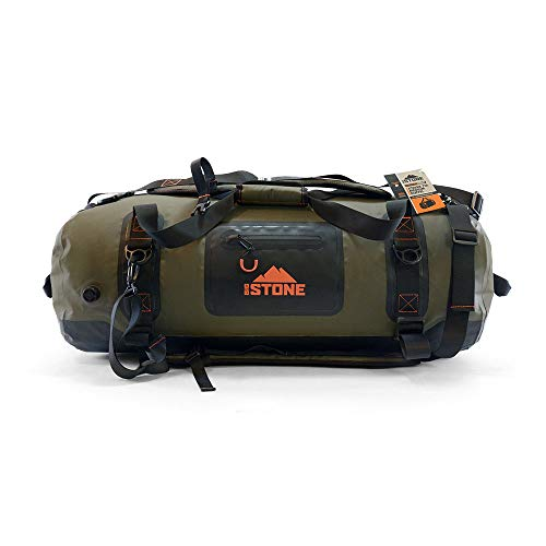 Big Stone Fully Waterproof, airtight, Submersible, Heavy Duty, Rugged, Scuba Zipper Dry Bag - Carry as Duffel, Backpack or Shoulder - Large/x-Large (90 Liter)