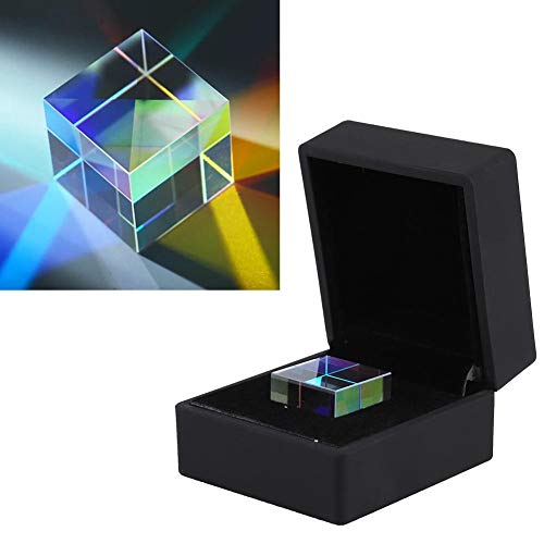 Cube Prism Glasses Optical, Gift Box Prism Photography Prism Light Spectrum Physics Prism Decoration, K9 Scientific Experiment Optical Prism Glasses 23 23 23mm