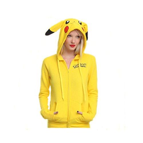Sweatshirt mit Reißverschluss Pikachu Pokémon Go Damen (L)