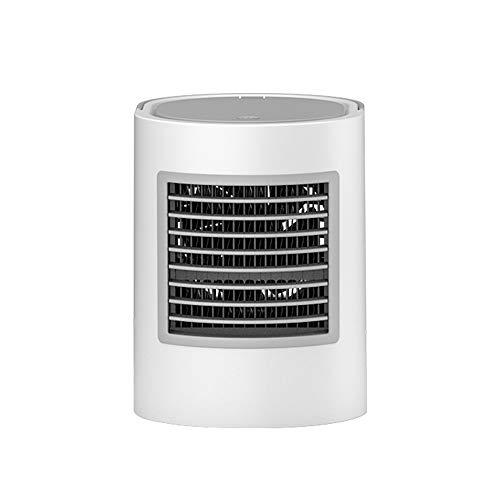 AIYASHIWEI USB mini-fan koelventilator elliptisch watergekoelde airconditioning ventilator nachtlampje ventilator USB desktop luchtkoeling ventilator koelkast, grijs