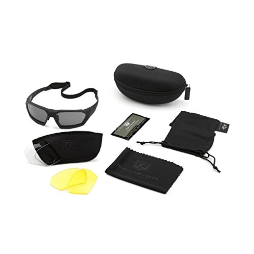 Revision Military Shadowstrike Ballistic Sonnenbrille Military Kit, Schwarz, Einheitsgröße
