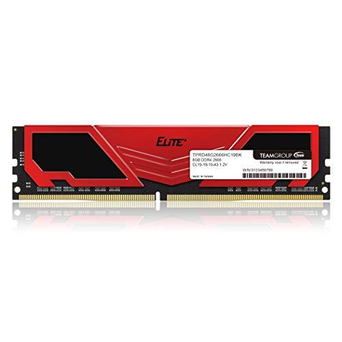 Team DDR4 2666Mhz PC4-21300 8GB デスクトップ用メモリ Elite Plus シリーズ 日本国内無期限保証 正規品
