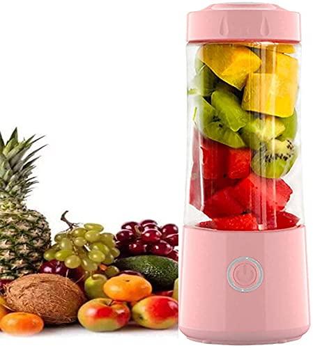 WYFX Máquinas exprimidoras, licuadora de Frutas pequeña portátil, licuadora de Carga USB para Batidos, Frutas, licuadora masticadora de Batidos