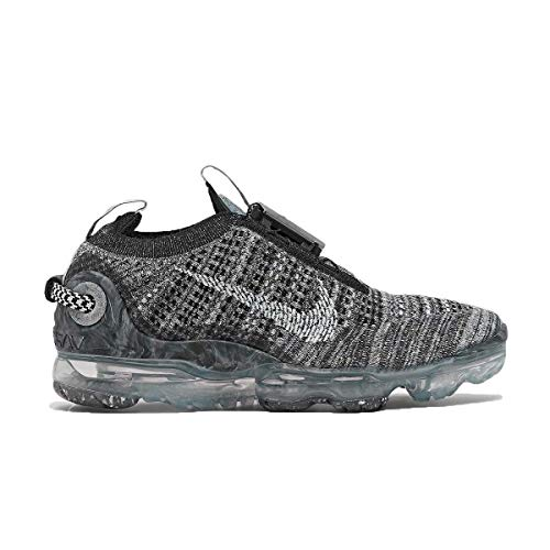 Nike Air Vapormax 2020 Flyknit - Zapatillas de correr para niños, color gris y negro, gris (Gris/Negro), 36 EU