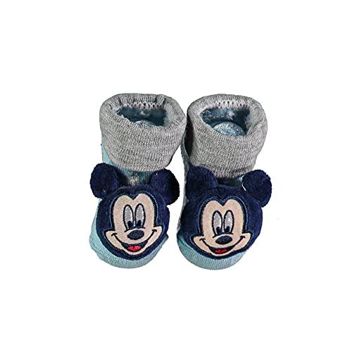 Ellepi Disney - Calcetines de bebé de algodón para primeros meses, diseño de Minnie Mouse, Ratón Cielo, Talla única