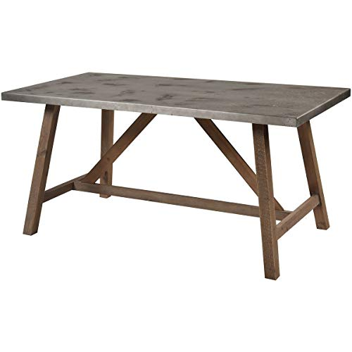 Sterling Home Perot Natural Wood and Concrete dining table, Gray