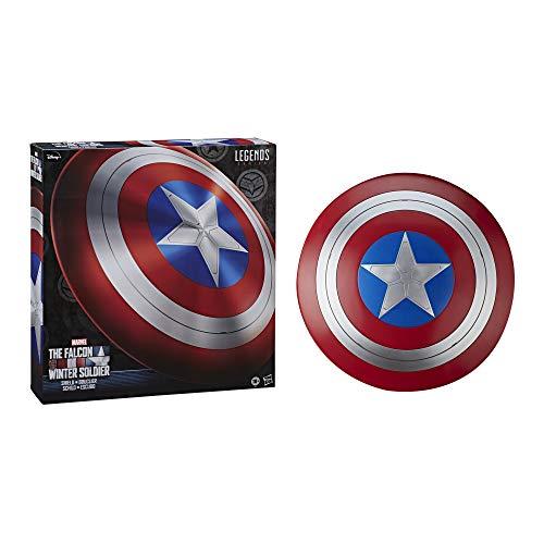 Marvel F0764 Hasbro Legends Series Avengers Falcon and Winter Soldier Captain America Premium Rollenspiel-Schild für Erwachsene und Fans