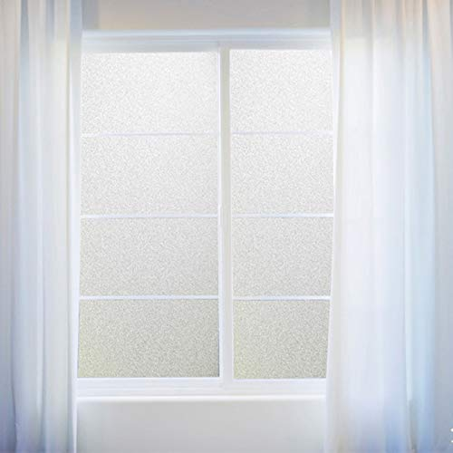 LMKJ Película de Ventana esmerilada de PVC, Pegatina de Vidrio Impermeable, autoadhesiva, hogar, Dormitorio, baño, Oficina, privacidad, Scrubs, películas de Escarcha B7 50x100cm