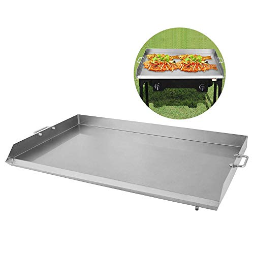 Happybuy Universal Flat Top Griddle 36x22 inches BBQ Grills Stainless Steel Non Stick Burner Griddle with Removable Handles for Restaurant or Home Use Griddles