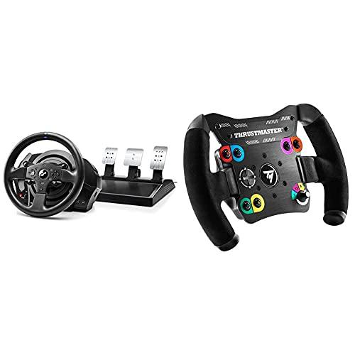 Thrustmaster T300RS GT, Lenkrad und 3 Pedale, PS4 und PC, REALSIMULATOR Force Feedback & TM Open Wheel: Abnehmbares Lenkrad für die Performance in GT- und Einsitzer-Rennen