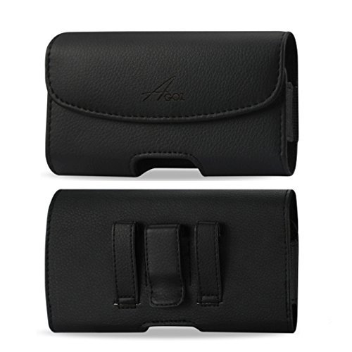 AGOZ for Huawei Ascend XT H1611, Premium Leather Pouch Case Holster with Belt Clip & Belt Loops
