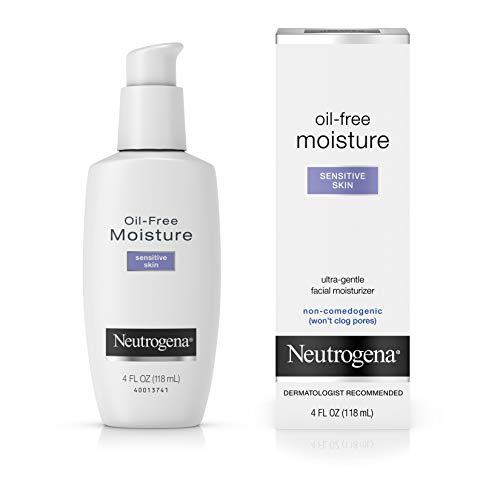 Neutrogena Oil-Free Moisture, Sensitive Skin - Gesichtspflege für sensible Haut, Ölfrei