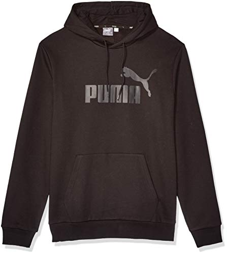 PUMA Men's Essential+ Hoody Fleece, Cotton Black, L