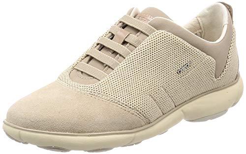 Geox Damen D Nebula C Sneaker, Beige (Beige/Cream C0423), 36 EU