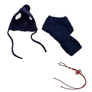 Fully chiot Chien Bonnet tricoté Écharpe Foulard Bandana écharpe d'hiver écharpe tricotée pour kit pour animal Chaud