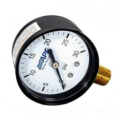 Check Out This The Pool Supply Shop Black APC Face Bottom Mount Pressure Gauge