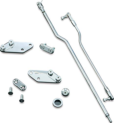 """Kuryakyn 9062 Motorcycle Foot Extender Component: Forward Control 3"""" Extension Kit for 1993-2002 Harley-Davidson FXDWG & All Dyna Motorcycles, Chrome"""
