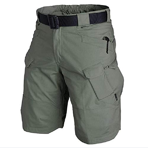 VEROP 2021 Upgraded Waterproof Tactical Shorts for Men-Quick Dry Breathable (L,Army-Green)