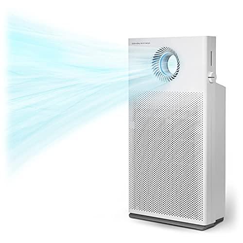 COWAY Airmega Jet Luftreiniger| Entfernt 99,999% der Partikel bis zu 0,01µm*, Viren & Aerosolen | ECARF-zertifiziert für Allergiker | Für Räume bis 104 ㎡ | CADR 402 m³/ h | MegaJet™ Technology