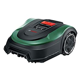 Tondeuse robot Bosch – Indego M 700 (avec batterie 18V, station de charge incluse, largeur de coupe de 19 cm, capacité de tonte maximale de 700 m², dans un emballage en carton)