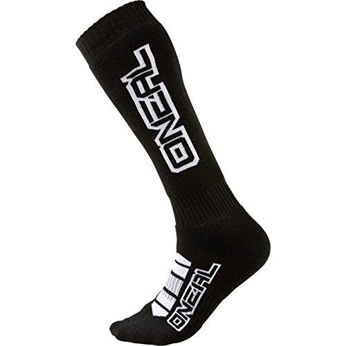O'NEAL | Mountainbike Motocross Socken | MTB Downhill Freeride | Schweißabsorbierend, Verstärkter Fersen und Sohlenbereich | Pro MX Corp | Unisex | Erwachsene | Schwarz Weiß | One Size
