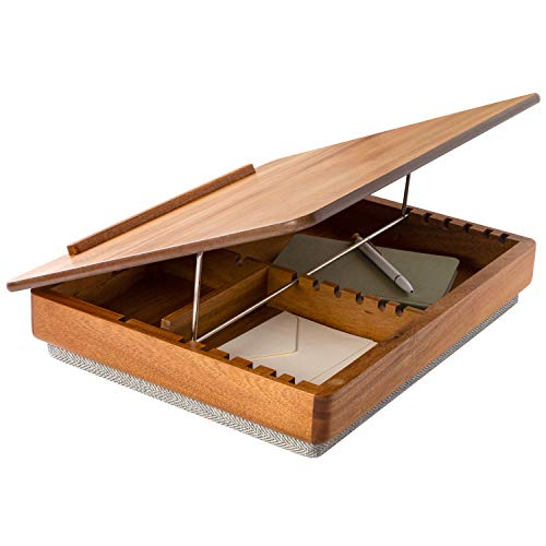 LapGear Rossie Home Acacia Wood Easel Lap Desk with Storage - Natural - Style No. 76506
