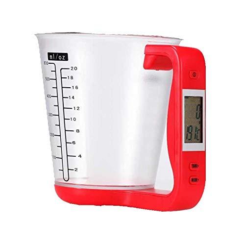 Digitale Küchenwaage Messbecher Waage mit Abnehmbarem Messbecher LCD Display Zuwiegefunktion 1kg Höchstlast, Elektronische Digitalwaage Haushaltswaage