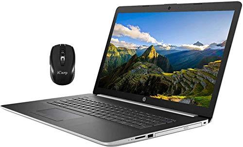 Flagship HP 17 Laptop Computer 17.3' Full HD IPS Display 10th Gen Intel Quad-Core i5-1035G1 (Beats i7-8550U) 16GB DDR4 512GB SSD DVD Backlit KB WiFi HDMI Webcam Win 10 + iCarp Wireless Mouse