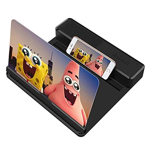 スピーカー、12インチの3D電話スクリーンの虫眼鏡、拡大板スクリーンの携帯電話プロジェクターモバイルブラケットホルダーを備えた画面の拡大鏡。