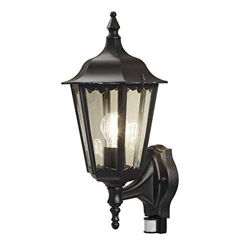 Konstsmide Firenze 7236-750 wandlamp/B: 22 cm D: 29 cm H: 48 cm / 1x100W / IP44 / gelakt aluminium/matzwart/met BWM