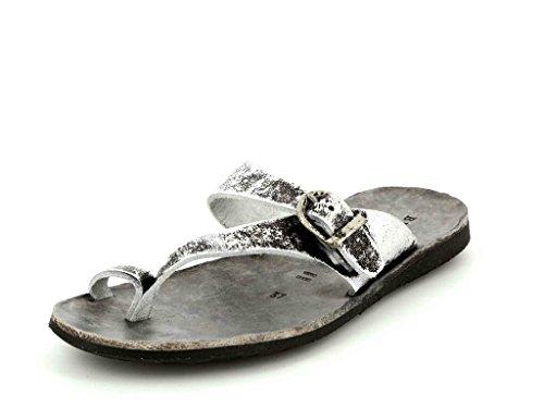 Brador Damen Pantoletten 34014 Argento Silber 130954