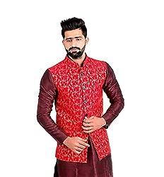 Veera Paridhaan Mens Banarasi Print Nehru Jacket