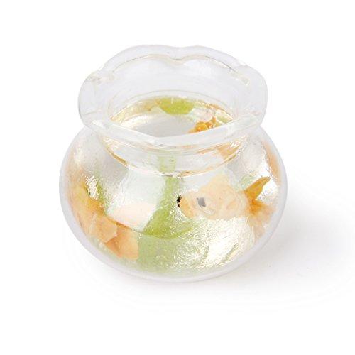 1:12 Puppenhaus Miniatur Gold Fisch Tank Behälter Haustiere Möbel Dekor