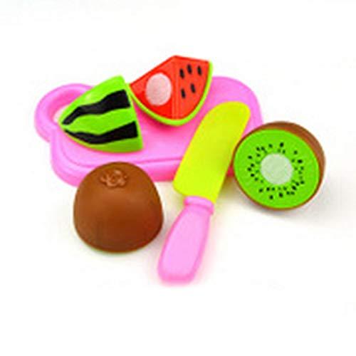 gfjfghfjfh Giocattolo per Bambini Set da Taglio per Frutta Gioco di Ruolo Fingi di Frutta Verdura Riutilizzabile Cibo - Misto Multicolore B0401