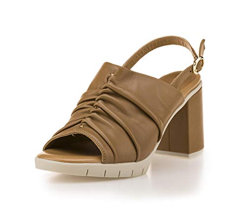 The FLEXX Soft High hak sandaal vrouw cognac 39 EU